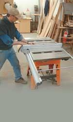 Rock-solid rails, a great cut capacity for wide work, and a great price make this saw a winner in the shop or on site.
