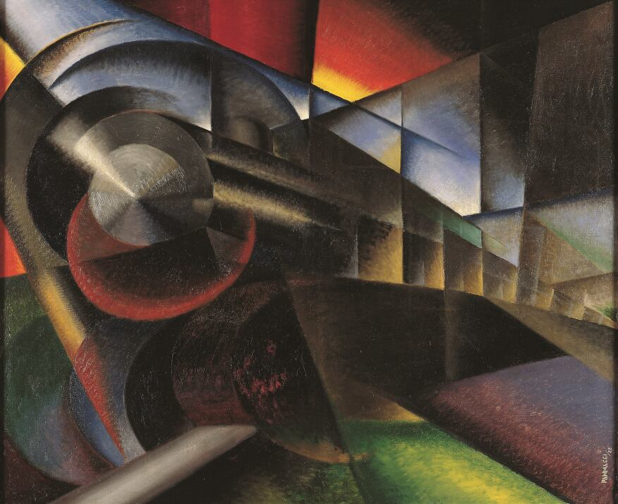 Speeding Train, Ivo Pannaggi, 1922.