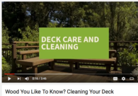 Video: How to Clean a Wood Deck