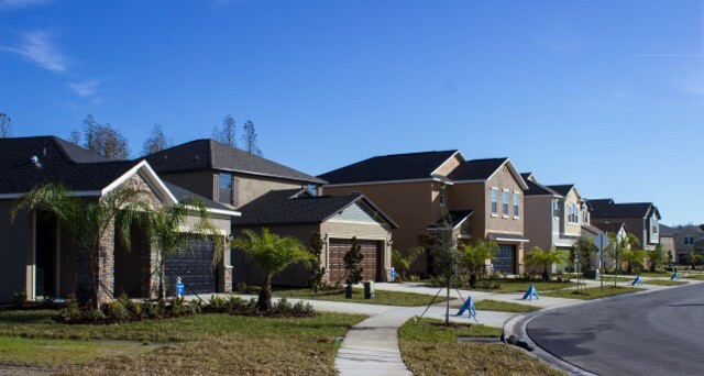 Easy Street in Concord Station in Pasco County, Fla., one of two model home showplaces recently opened by Lennar.