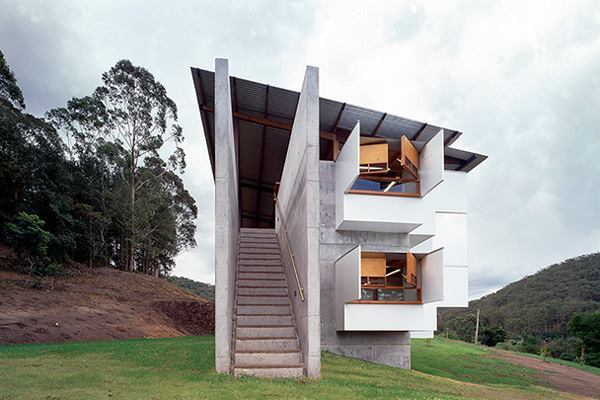 Bundanon Environmental Center, Riverdale, Australia, by 2009 AIA Gold Medal winner Glenn Murcutt.