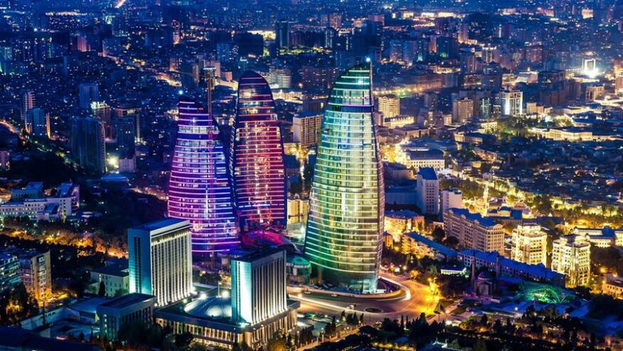 Flame Towers by HOK in Baku, Azerbaijan.