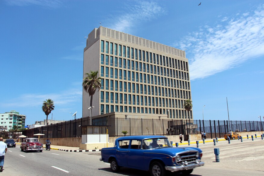The U.S. embassy in Cuba, recently reopened, was designed by Harrison & Abramovitz in 1950