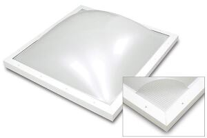 EcoSky emerged from a collaboration between Wasco and Evonik Cyro. The skylight's thermal performance is three times higher than competitors' products, according to the manufacturers. It incorporates Wasco's Lumira Aerogel, which stops connective and conductive thermal transfer, while Evonik Cyro's Acrylite Satin Ice acrylic sheet reduces glare and blocks infrared rays. The impact modified acrylic sheet comes in 100% haze white. wascoskylights.com