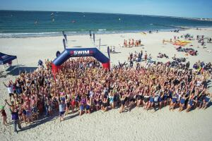 For a Good Cause: Enthusiastic swimmers take to the open water as part of Swim Across America's annual events nationwide to raise money and awareness for cancer research, prevention and treatment. SAA also holds pool swims year 'round.