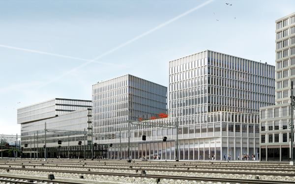 Rendering of Europaallee Site D, designed by WAA.