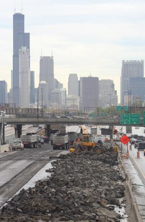 The Dan Ryan Expressway Reconstruction Project in Chicago cost $975 million  to complete recently. Green technology may help boost highway spending, even  as consumers cut back on fuel by buying more energy-efficient vehicles, using  public transportation, and using alternative fuels.