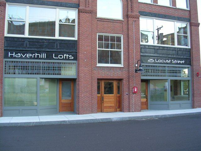 Haverhill Lofts in Haverhill, Mass., offers loft studio apartments especially suitable for artist residents, with concrete floors and oversized doors.