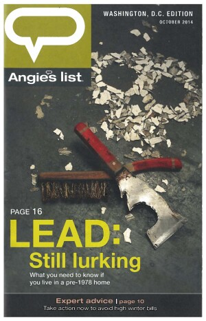Cover of October 2014 Angie's List magazine