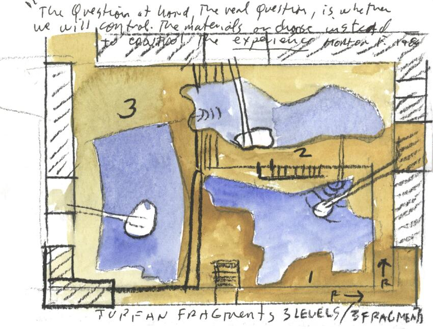 Watercolor site diagram.