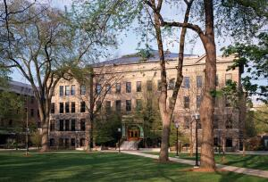The S.T. Dana Building at the University of Michigan was renovated and restored, adding 35,000 square feet (3,252 m2)   to the 100-year-old building and incorporated daylighting, natural ventilation, recycled-content materials, composting toilets, and a radiant-cooling ceiling panel system.