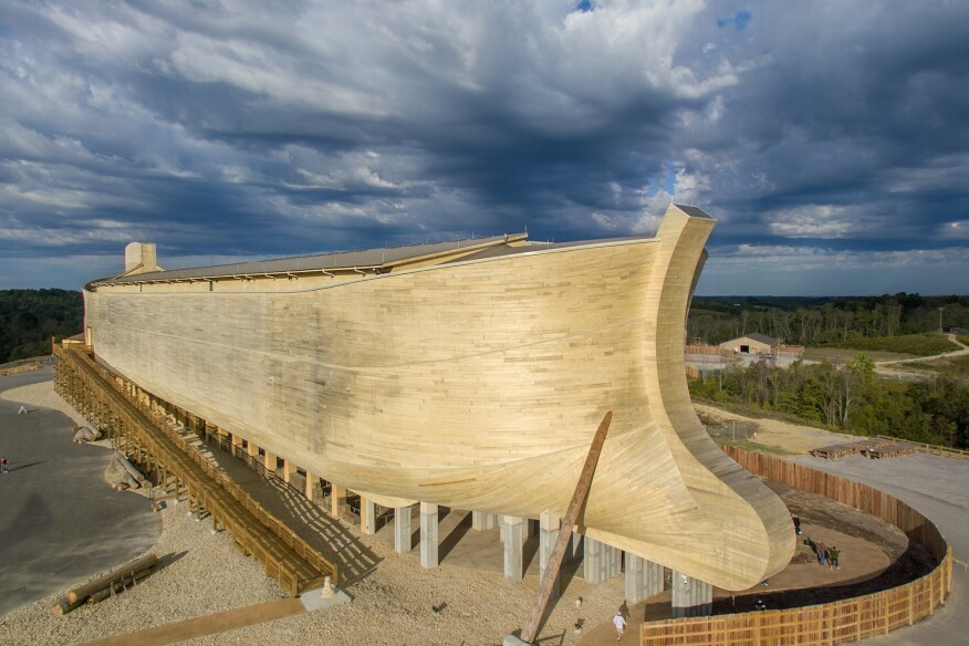 The Ark Encounter attraction, in northern Kentucky, is one of the largest timber-framed structures in the world.