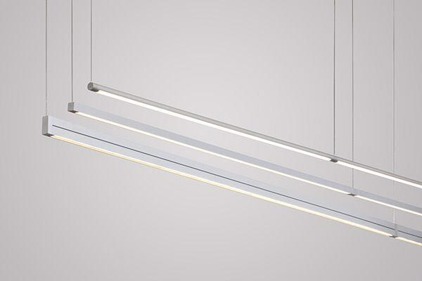The slim 107 Suspension family of LED luminaires by Vode Lighting comes in three versions: RaceRail offers cylindrical rails, BoxRail has square profile rails, and Double Box has rectangular profile rails. All three are available in 1' increments; the maximum length is 6' for RaceRail and BoxRail and 8' for Double Box. Suitable for open office spaces, walls, and accent lighting, the modular lighting systems incorporate the company's energy-efficient, constant-current LED boards. vode.com