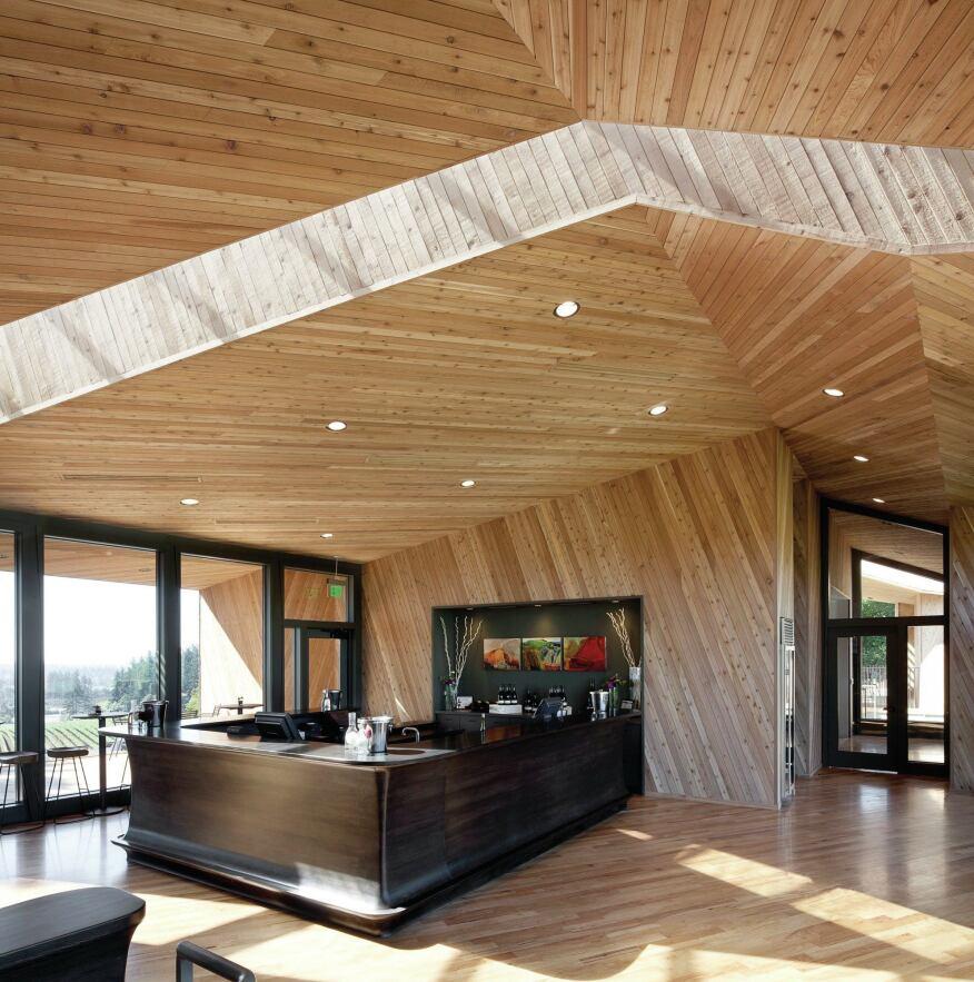 Tasting room interior.