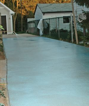 Surface retarders should be applied as the water begins to disappear from the surface of the concrete. Colored retarders help to ensure that the material will be applied evenly.