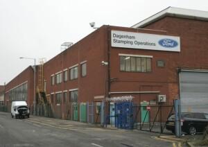 The former Ford stamping plant in Dagenham.