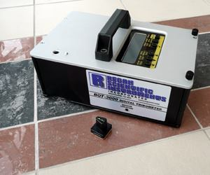 Using the BOT-3000 collects coefficient of friction data to test slip resistance of polished concrete floors.