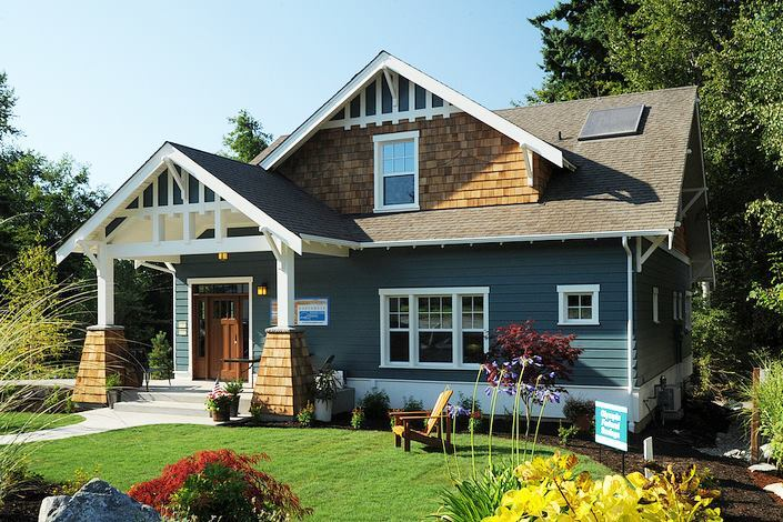 The 2,020-square-foot bungalow in Olympia, Wash., is Energy Star and Built Green certified.