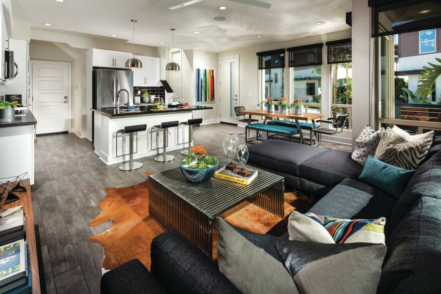 Micro Living: Architect Michael Woodley has designed micro homes, but builders seem to prefer working on townhomes, such as Shea Homes' Frame and Focus project in San Diego.