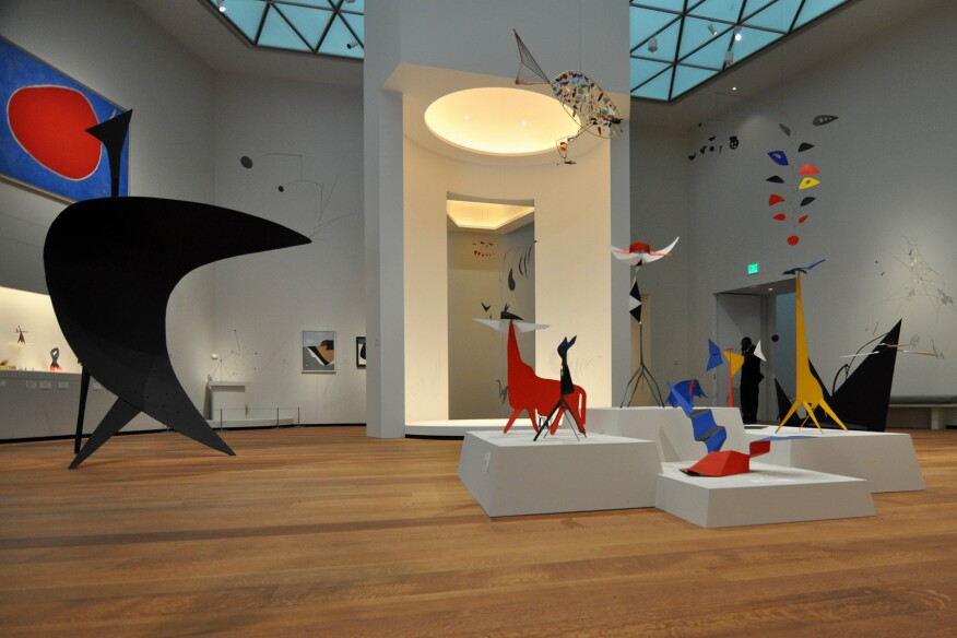 Alexander Calder: A Survey, Tower 2 of the National Gallery of Art, East Building, includes 28 works by the renowned sculptor.