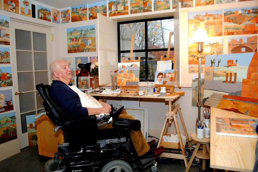 Michael Graves in his live-in work studio in the later years of his life. The architect passed a year ago in March.