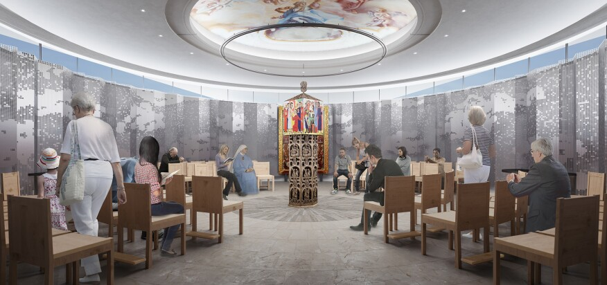 Rendering of the new chapel