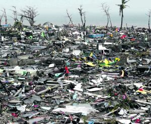 The Philippines after Super Typhoon Haiyan in November 2013