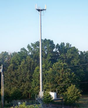 Local emergency responders spent four months and $5,000 to mitigate the environmental impacts of this communication tower by raising the equipment platform above the 100-year floodplain and not adding to the amount of infill within the floodplain. Photo: James Duncan
