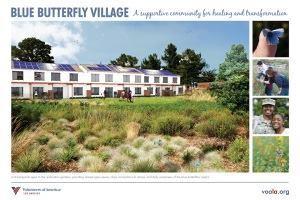 Blue Butterfly Village in Los Angeles
