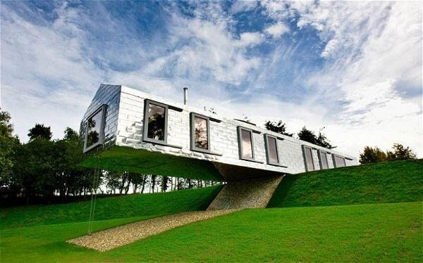 Living Architecture's Balancing Barn in Suffolk, designed by MVRDV and Mole Architects