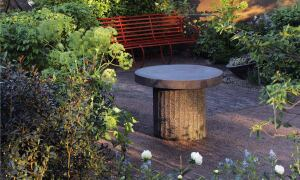 Cleve West's Bupa Sensory Garden, created for London's 2008 Chelsea Flower Show, was designed for the benefit of people suffering from dementia and other memory issues. Seating areas offer a respite for those wishing to tarry a little longer.