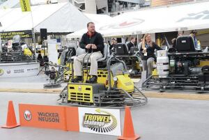Each year, the Wacker Neuson Trowel Challenge draws large crowds to watch more than 150 trowel operators test their ride-on trowel operating skills.