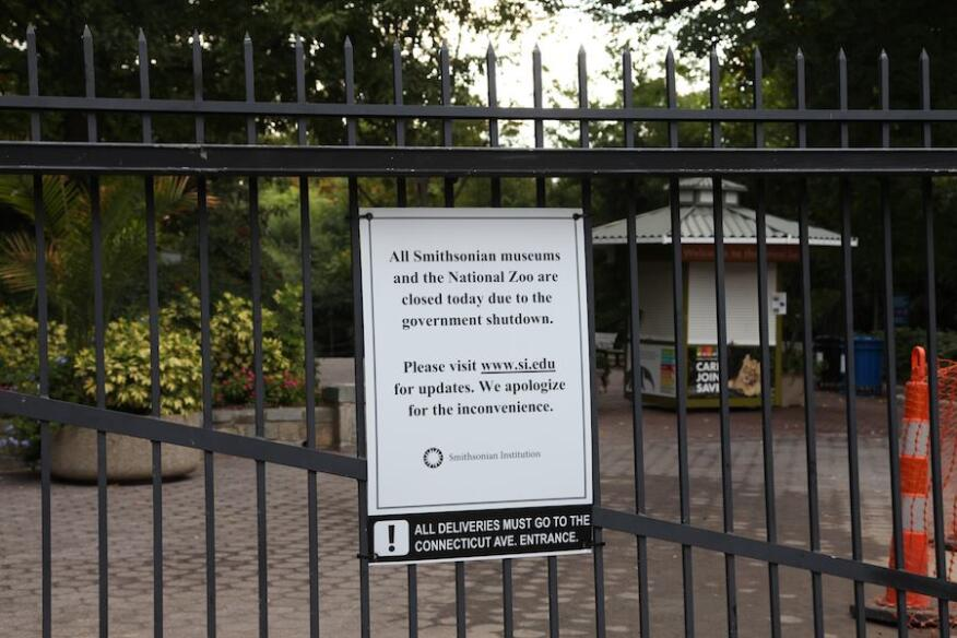 The National Zoo is also closed as part of the shutdown, but essential employees will still report to work to care for the animals.