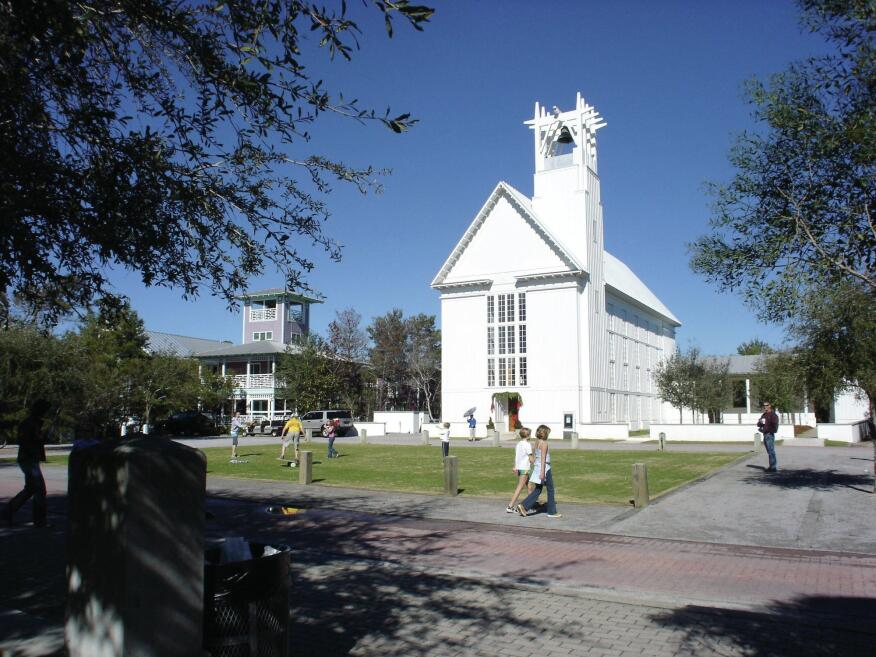 Seaside's nondenominational interfaith chapel was designed by Merrill, Pastor & Colgan Architects, which has offices in Vero Beach, Fla., and Atlanta.