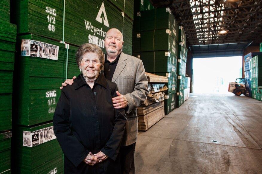 Marian Beisser (left) and her son Kim Beisser
