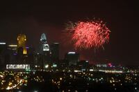 Fireworks Over the Ohio River in Cincinnati