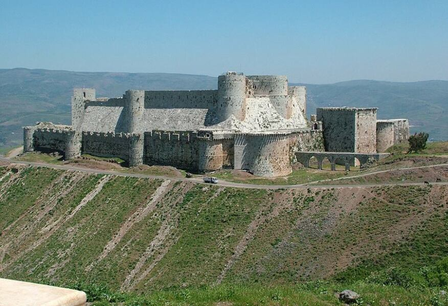 Crac des Chevaliers, one of Syria's cultural heritage sites. (2004)