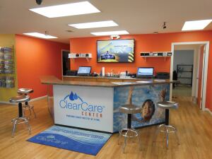 Pool fun: Lonza has about 15 lifestyle images showing the fun of pool ownership that dealers can use for counter or product displays, graphics in the store or window wraps.