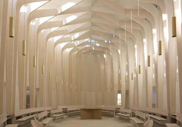 Bishop Edward King Chapel in Oxford by London's Niall McLaughlin Architects.