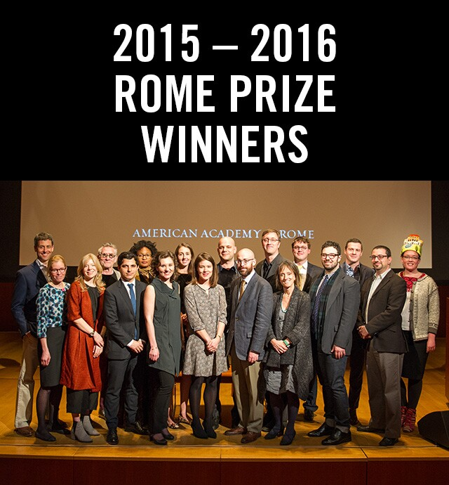 The winners at the Arthur & Janet C. Ross Rome Prize Ceremony, held at the Morgan Library and Museum in New York City on April 16th.
