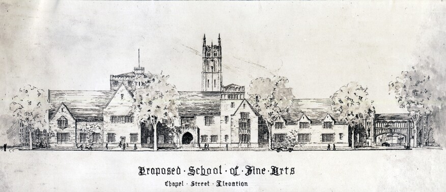 Hyman Feldman's thesis project (class of 1919), which helped persuade Yale to expand the School of Fine Arts