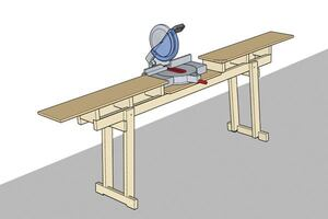 Quick Folding Chop-Saw Stand