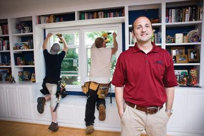 In 2006, Harley Magden (right) and his brother, Aaron, started their window company, Window Nation, ranked 37 on this year's Replacement 100 list.
