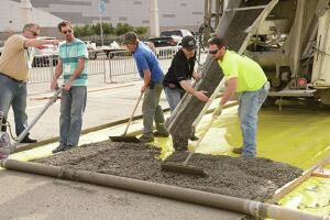 Attendees had a chance to learn about pervious concrete mixes, installation equipment, and proper installation techniques at Pervious Live!