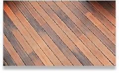 Figure 5. Fiberon's PermaTech composite-decking finish comes with a 10-year guarantee against scratches and stains.