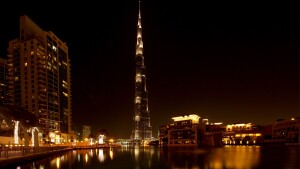 "Burj Khalifa, currently the world's tallest man-made structure. The Tower will be ""a notch taller"" than Burj Khalifa."