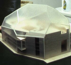 Tenguerian created a new version of a Rafael Moneo model of Avery Fisher Hall  for free after it was damaged in shipping.