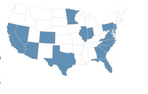 CalAtlantic Homes footprint.