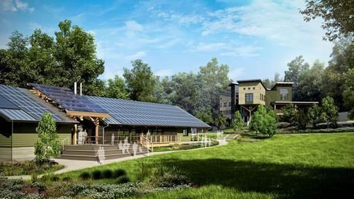 Designed by Consilience, the Potomac Watershed Study Center is aspiring for Living Building status.