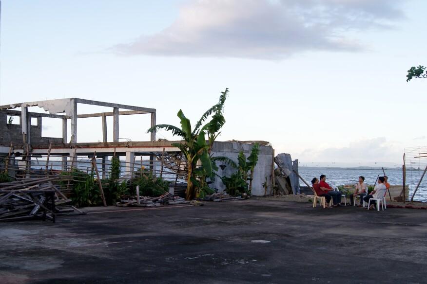 The site after Typhoon Yolanda, Tacloban, Phillipines (January 2015)